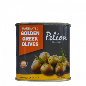 marinated golden olives